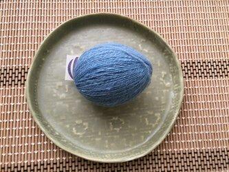 手紡ぎ 藍染め 無媒染 ロムニー羊の画像