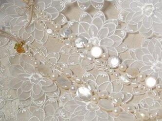 淡水パール2連ネックレスの画像