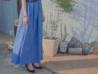 N*h ジーンズリネンスカートの画像