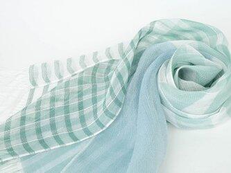手織りリネンストール【清風*03】の画像