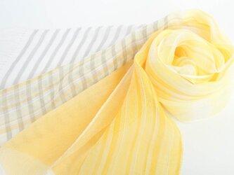 手織りリネンストール【清風*04】の画像