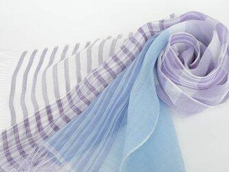 手織りリネンストール【清風*05】の画像