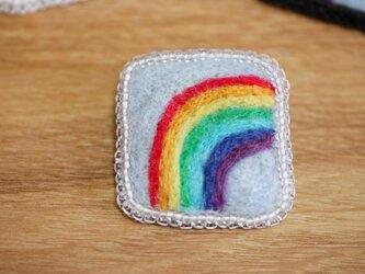 虹 ブローチ・クリアの画像