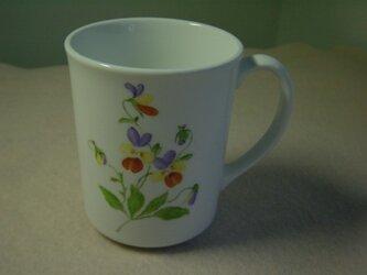 ポーセリンアート  マグカップの画像