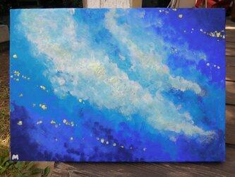 蓄光絵画「透明な宇宙」(原画)の画像