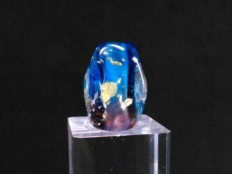 とんぼ玉12角形紫青の画像