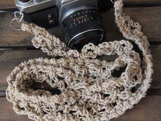 レース風麻紐ヘンプカメラストラップ(2重リングタイプ)の画像