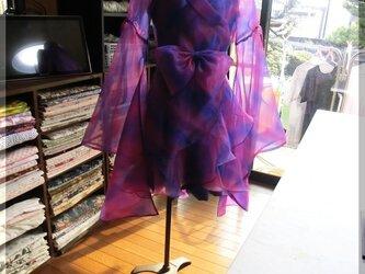 【展示品・非売品】オーダーメイド!カラオケのステージ衣装ドレス(オーガンジー)の画像