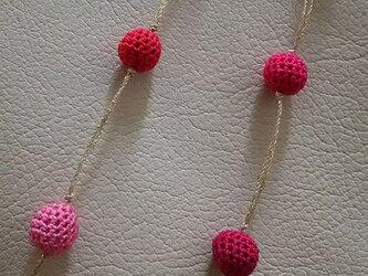 絹玉ネックレスの画像