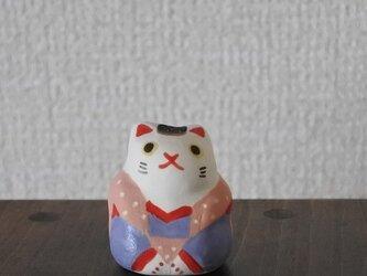 ミニ福猫 桃×紫の画像