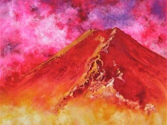 天地躍動(赤富士)の画像