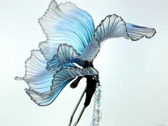 蝶の簪 -水と風-     かんざし ディップアート の画像