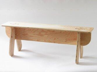組み立てる家具・2人掛けベンチの画像