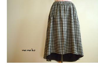 リバーシブル フィッシュテールスカートの画像