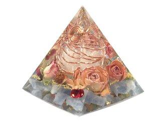 ブルーカルサイト 幸運 ピラミッド オルゴナイトの画像