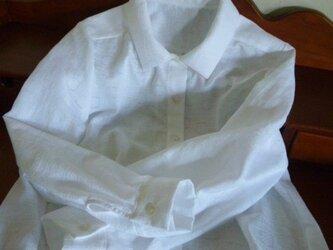 播州織の花柄シャツの画像