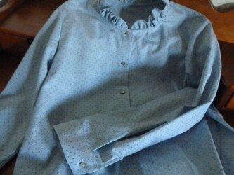 播州織のフリルシャツの画像