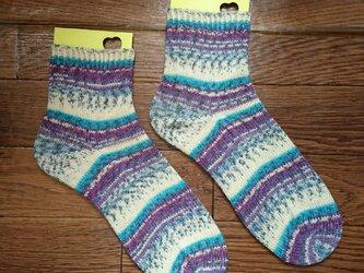 手編み靴下 opal KFS141 ドイツの風景 マイセンの画像