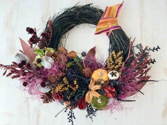 Halloween smoketree wreath VIの画像