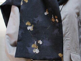 セールになりましたヴィンテージ着物のストール 秋の装いの画像