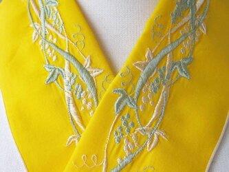 半衿・刺繍半衿・葡萄(黄色)の画像
