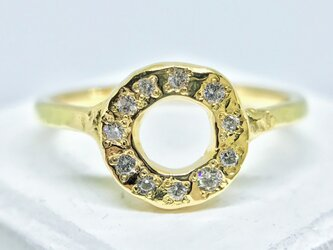 ◆K18◆ ドーナッツのようなリングの画像