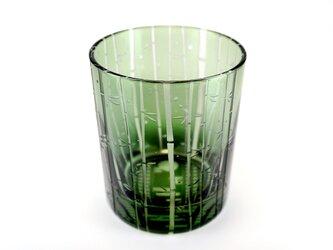竹林と蛍火のグラス【翡翠】の画像