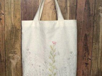 野の花 刺しゅうかばん 受注製作の画像