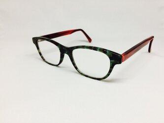 フォレストグリーンカラーのスポーティメガネ(メガネフレーム)の画像