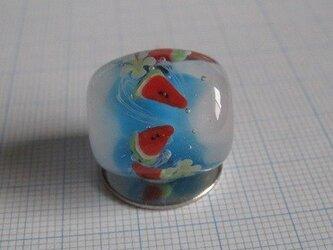とんぼ玉 スイカの画像