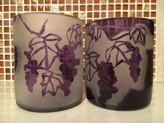 蔓ぶどうのペアグラスの画像
