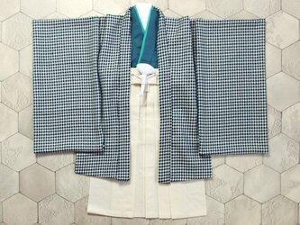 ◆羽織袴セット/千鳥格子/5歳【受注生産】の画像