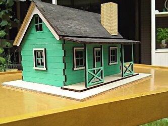 ミニチュアハウス塗装済完成品ペールグリーンの画像