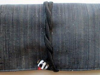 送料無料 めくら縞の着物で作った和風財布・ポーチ 2861の画像