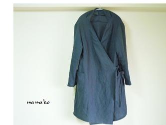 イタリ―リネン100% 羽織りコートの画像
