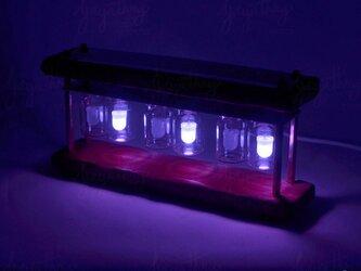 【父の日プレゼントに】(RGB)LED時計 色で時間がわかるスチームパンク風 バイナリモード USBケーブル付きの画像