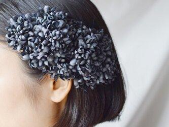 ポンポンダリアの髪飾り:ネイビーの画像