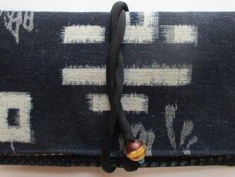 送料無料 久留米の絵絣と男絣で作った和風財布・ポーチ 2864の画像