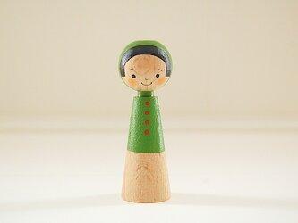 [conocokeshi]指人形・hand puppet[2]若草色ずきんの画像