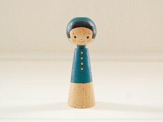 [conocokeshi]指人形・hand puppet[3]藍色ずきんの画像