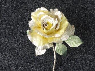ゴールドの薔薇 * 金ラメ製 * アレンジメントの画像