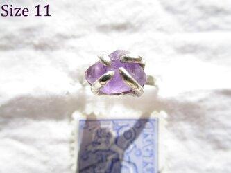 【再販】silver アメシスト 原石 リングの画像