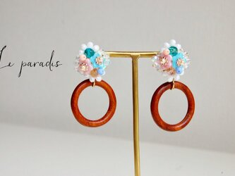 pastel bouquetイヤリングの画像