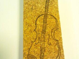 消しゴムはんこ:ヴァイオリンの画像