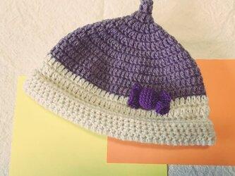 秋色*どんぐり帽子*子ども用 purpleの画像