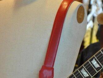 ギターストラップ赤 スタッズの画像
