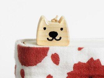 木の犬しおり N-1(ブックマーカー)の画像