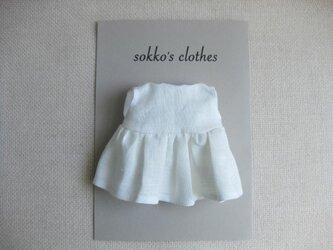 sokko's Dress  白いリネンのワンピーススカートの画像