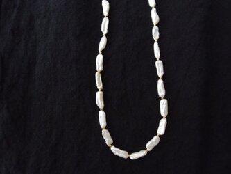 送料無料【K14gf】パールのネックレス … Stick pearl【受注制作】の画像