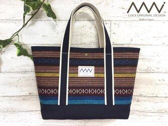 ネイティブ柄 * インド綿 x 帆布のトートバッグの画像